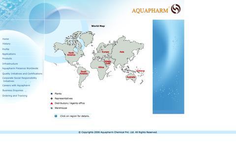 Screenshot of Maps & Directions Page aquapharm-india.com - aquapharm - captured Feb. 6, 2016