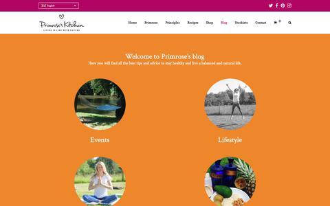 Screenshot of Blog primroseskitchen.com - Tips & Advice on how to stay healthy | Primrose's Kitchen Blog - captured Nov. 5, 2018