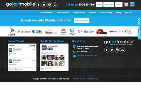 Screenshot of Terms Page gotextmob.com - TERMS OF USE - GoTextMobile - captured Nov. 2, 2014