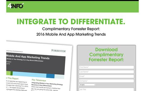 Forrester Mobile and App Trends