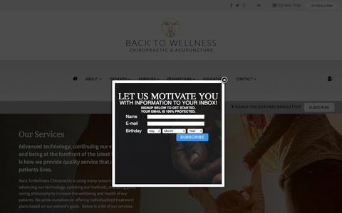 Screenshot of Services Page backtowellnessnow.com - Services & Techniques - LEGEND 2.0 - captured Oct. 9, 2017