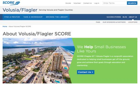 Screenshot of About Page score.org - About Volusia/Flagler SCORE | SCORE - captured Sept. 28, 2017