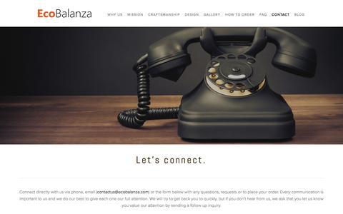 Screenshot of Contact Page ecobalanza.com - Contact — Ecobalanza - captured Oct. 24, 2016