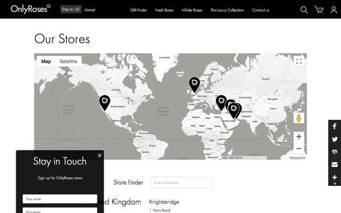 Screenshot of Contact Page only-roses.com - Luxury Roses Store Locations - OnlyRoses - captured Sept. 20, 2018
