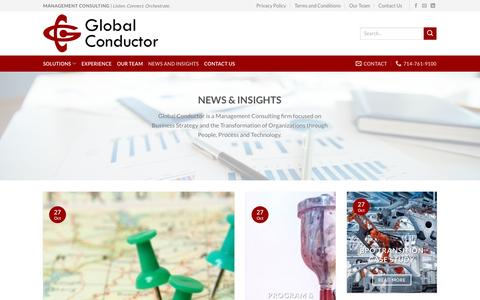 Screenshot of Case Studies Page globalconductor.com - News and Insights | Global Conductor - captured May 18, 2017