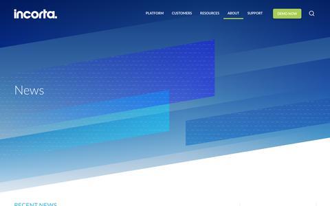 Screenshot of Press Page incorta.com - (1) New Message! - captured Nov. 6, 2018