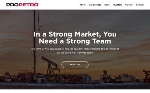 Screenshot of Home Page propetroservices.com - ProPetro Holding Corp. (PUMP) - captured May 28, 2017