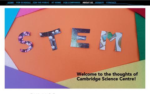 Screenshot of Blog cambridgesciencecentre.org - Blog | Cambridge Science Centre - captured Nov. 4, 2018