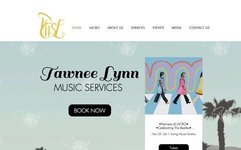 Screenshot of Home Page tawneelynn.com - tlms - captured Nov. 6, 2017
