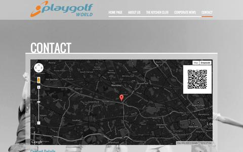 Screenshot of Contact Page playgolfworld.com - Contact | Playgolf World | Changing the face of Golf | Baseball, Footgolf,  Driving Range, Restaurant, Gym, SPA, Academy | Playgolf World - captured Oct. 3, 2014