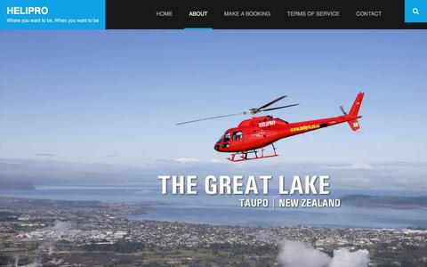 Screenshot of About Page helipro.co.nz - About – Helipro - captured May 12, 2017