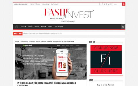 Screenshot of Signup Page fashinvest.com - In-Store Beacon Platform InMarket Releases Data on User Experience - captured Aug. 3, 2016
