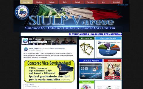 Screenshot of Home Page siulpvarese.it - SIULP Varese - captured Oct. 13, 2015