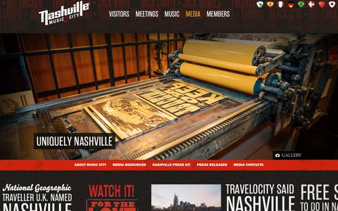 Screenshot of Press Page visitmusiccity.com - Nashville Media Releases, News and Press Kit | Visit Music City | Visit Nashville, TN - Music City - captured Oct. 18, 2018