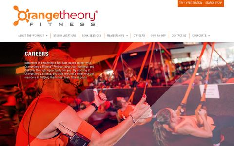 Orangetheory Fitness > Corporate > Careers