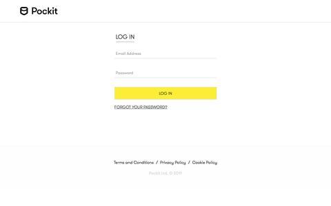 Screenshot of Contact Page pockit.com - Pockit Ltd - captured Nov. 13, 2019