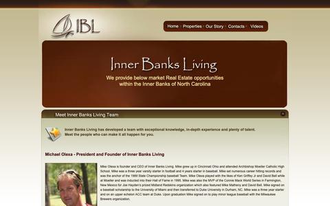 Screenshot of Team Page innerbanksliving.com - Meet Inner Banks Living Team - captured Nov. 6, 2018