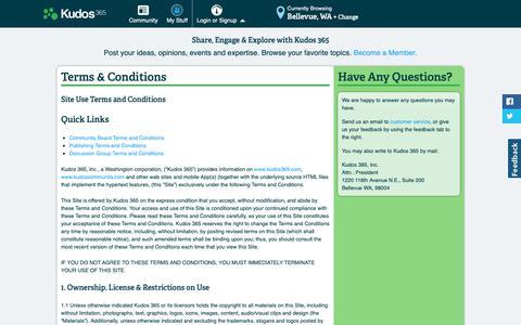 Screenshot of Terms Page kudos365.com - Kudos 365 Terms & Conditions - captured Oct. 16, 2018