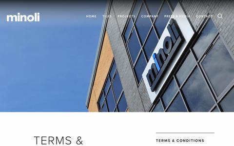 Screenshot of Terms Page minoli.co.uk - Terms & Conditions   Minoli - captured Dec. 11, 2016