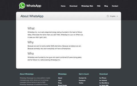 WhatsApp  :: About