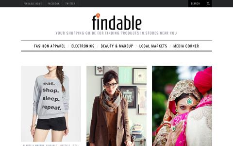 Screenshot of Blog findable.in - Your Shopping Guide for Buying Locally - Findable Blog - captured Sept. 25, 2014