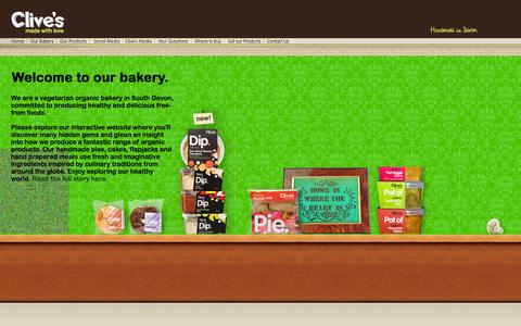 Screenshot of Home Page clivespies.co.uk - Clive's Pies - Handmade with love... - captured Sept. 30, 2014