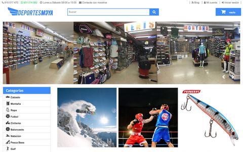 Screenshot of Home Page deportesmoya.es - Tienda deportes online - Deportes Moya - captured Oct. 15, 2017