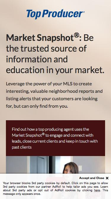 Market Snapshot®:  Be the trusted source of information and education in your market.