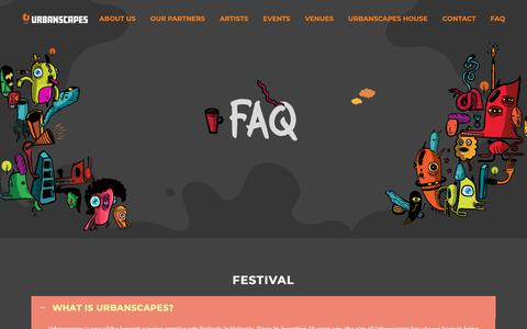 Screenshot of FAQ Page urbanscapes.com.my - Faq – Urbanscapes - captured Oct. 25, 2018