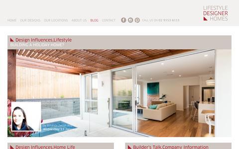 Screenshot of Blog Press Page lifestyledesignerhomes.com.au - Display Home Blog & News - Lifestyle Designer Homes - captured Jan. 29, 2016