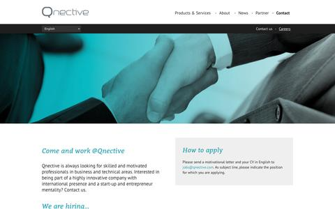 Screenshot of Jobs Page qnective.com - Come and work @Qnective - Products & Services: Qnective.com : Products & Services: Qnective.com - captured Nov. 5, 2016