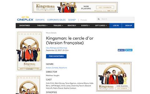 Cineplex.com | Kingsman: le cercle d'or (Version française)