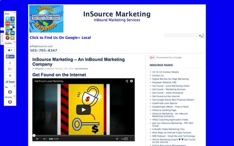 Screenshot of About Page insource1.com - InSource Marketing – An InBound Marketing Company - captured Oct. 6, 2014