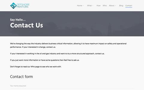 Screenshot of Contact Page offshore-mentors.com - Contact Information | Offshore Mentors - captured June 16, 2017