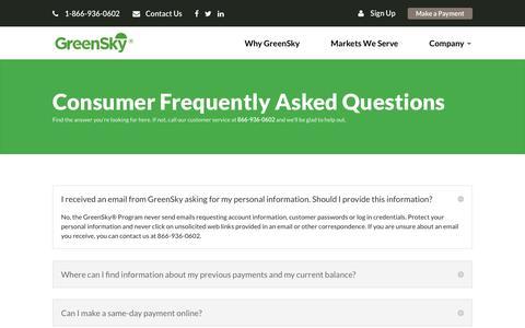 Customer FAQ | GreenSky