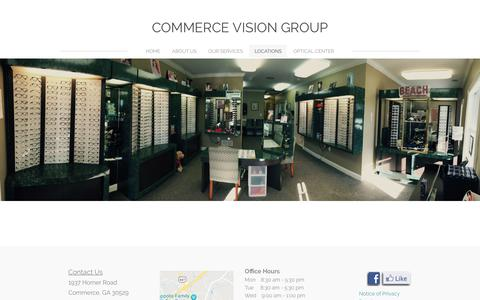 Screenshot of Locations Page commercevisioncenter.com - LOCATIONS - Commerce Vision Group - captured July 4, 2018