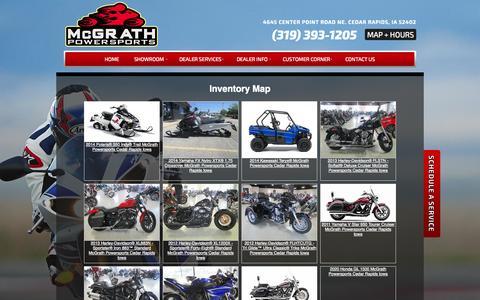Screenshot of Site Map Page mcgrathpowersports.com - Inventorymap | McGrath Powersports | Cedar Rapids Iowa - captured Sept. 30, 2014