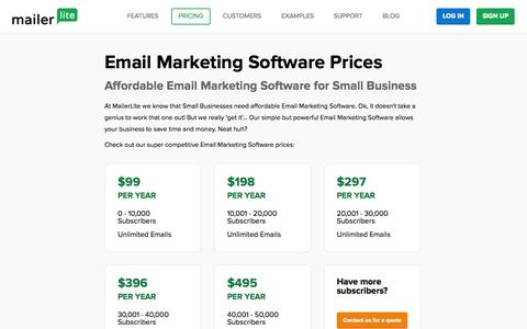 Affordable Email Marketing Software - Prices | MailerLite