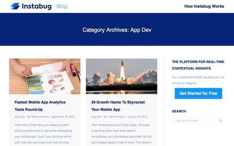 Screenshot of Developers Page instabug.com - App Dev Archives | Page 8 of 8 | Instabug Blog - captured Dec. 3, 2019