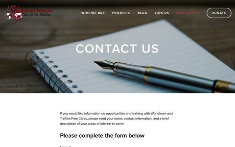 Screenshot of Contact Page worldteamfoundation.org - Contact Us — Worldteam Foundation - captured Dec. 21, 2018