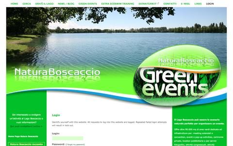 Screenshot of Login Page naturaboscaccio.it - Login - Natura Boscaccio - captured Feb. 2, 2016