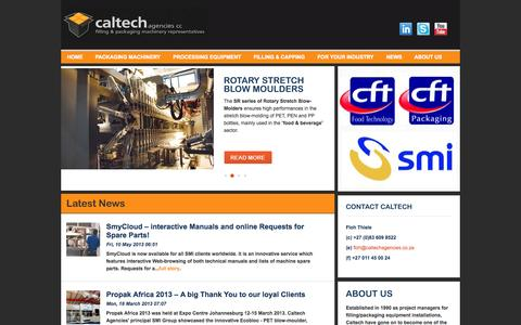 Screenshot of Home Page caltechagencies.co.za - Caltech Agencies | Project Managers - filling and packaging equipment Caltech - captured Sept. 27, 2014