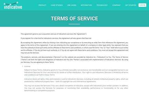 Terms of Service | Indicative