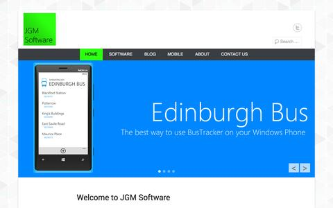 Screenshot of Home Page Menu Page jgmsoftware.co.uk - JGM Software | Software Development, Mobile Apps, and IT Consultancy - captured Sept. 30, 2014