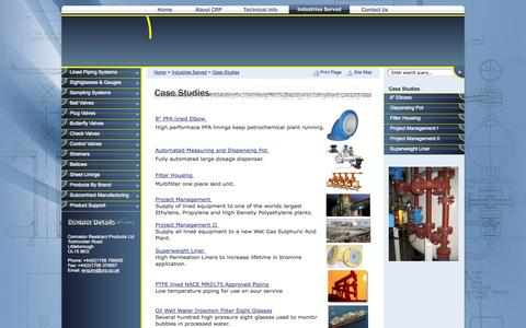 Screenshot of Case Studies Page crp.co.uk - Case Studies | Industries Served | CRP - The Corrosion Experts - captured Oct. 3, 2014