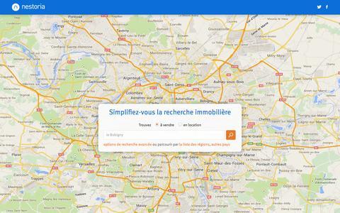 Screenshot of Home Page nestoria.fr - Recherche Immobilière par Nestoria - captured Sept. 19, 2014