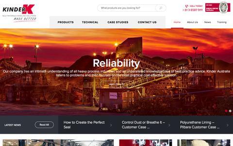 Screenshot of Home Page kinder.com.au - Kinder Australia - captured Sept. 6, 2015