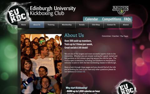 Screenshot of About Page eukbc.co.uk - EUKBC - About Us - captured Oct. 26, 2016