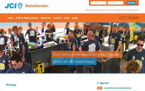 Screenshot of Privacy Page jkberkellanden.nl - Privacy - Juniorkamer de Berkellanden - captured Nov. 3, 2014