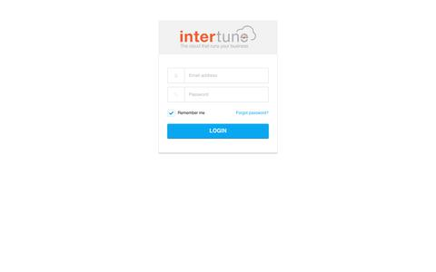 Screenshot of Signup Page Login Page intertune.com -   Intertune Cloud - captured Nov. 3, 2018